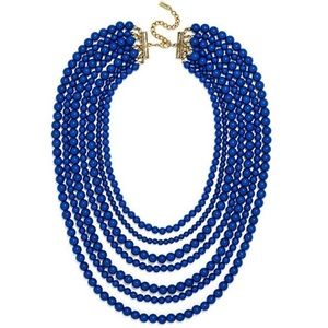 Bold Multistrand Beaded Statement Necklace